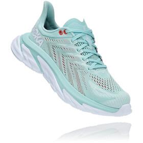 Hoka One One Clifton Edge Running Shoes Women eggshell blue/white